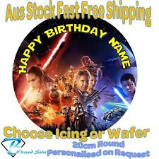 20cm Round Star Wars Edible Image Icing or Wafer Cake Topper Kids Birthday v1