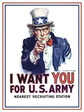 World War I One Uncle Sam I Want You Recruiting Poster Free Shipping