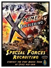 Special Forces US Army Green Berets X Treme Soldiering Recruitment Poster