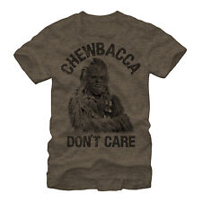 Star Wars Chewbacca Don't Care Mens Graphic T Shirt