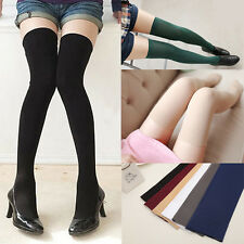 Womens Girls Sexy Warm Over The Knee Thigh High Soft Socks Stockings Leggings
