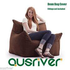 Brand New Suede Bean Bag Sofa Armchair Living Room Furniture Beanbag Cover