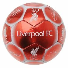 Liverpool FC Signature Football Red/White EPL Replica Soccer Ball