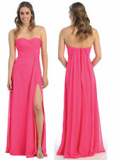 Long Bridesmaids Dresses Strapless Sweetheart Chiffon Plus Size Formal Gown