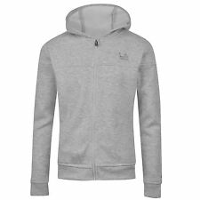 LA Gear Full Zip Hoody Juniors Kids Girls Grey Marl Top Sweater Jumper