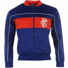 Glasgow Rangers FC 1984 Track Jacket Mens Retro Football Soccer Tracksuit Top