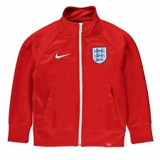 Nike England Core Jacket Juniors Red/White Football Soccer Track Top