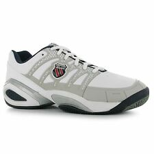 K Swiss Defier Tennis Shoes Mens White/Grey Trainers Sneakers