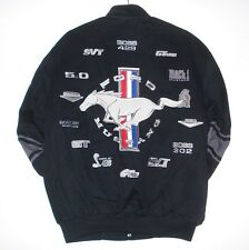Authentic Mustang Racing Embroidered Cotton Jacket JH Design Black New clg1