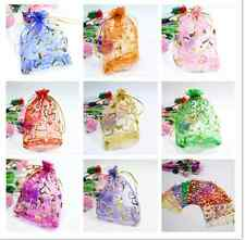 Luxury Jewellery Pouches Packing Organza Gift Bags Wedding Party 25/50/100pcs