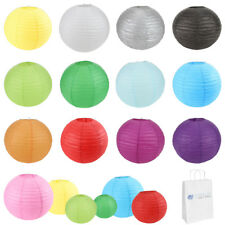"12 pcs 6"" 8"" 10"" 12"" 14"" 16"" 18"" 20"" Chinese Paper Lantern Wedding Party Decor"