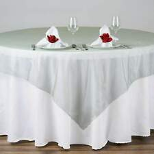 """20 Pack 72""""x72"""" Sheer Organza Overlay Wedding Party Banquet 20+ Colors!"""