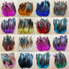 100pcs Fashion Natural Assorted 3-5inch/8-15cm Beautiful Rooster Tail Feathers
