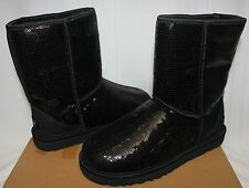 UGG Women's Classic Short Sparkles boots Black Sequin size 5 - New With Box!