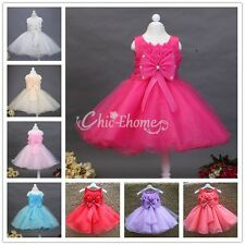 New Girls Flower Lace Bridesmaid Party Princess Prom Wedding Christening Dress