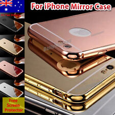 For iPhone 6 6s 7 8 PLUS Luxury Aluminum Ultra-thin Mirror Metal Case PC Cover