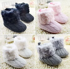 Baby Girls Boys Soft Warm Snow Boots Toddler Infant Prewalker Crib Shoes 0-18M