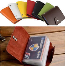 Portable Leather Pocket 24 Card ID Credit Card Holder Case Purse Business Wallet