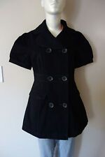 Tullette Double Breasted Cotton Black Jacket Size: S, M, L NWT