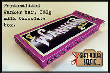Personalised Wanker bar 100g Chocolate box, Great Gift Idea.