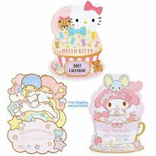 JAPAN SANRIO KITTY MY MELODY LITTLE TWINS STAR LARGE WALL CALENDAR