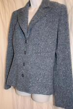 LIZ CLAIBORNE womens size 12 - blue wool blend TWEED Blazer // Jacket