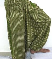 Patch Work Silk Harem Pant For Women And Girls Multi Color Trendy Looking Design