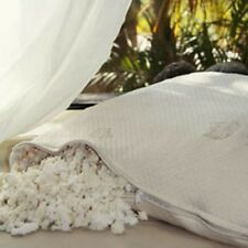 Pure Rest Organic All Natural SHREDDED RUBBER NON-ZIP Pillows w/DAMASK Outer!