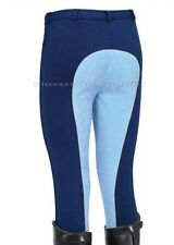 TWO TONE HORSE RIDING CHILDREN KID CHILD JODS JODPHURS JODHPURS NAVY BABY BLUE