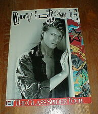 "DAVID BOWIE Orig 1987 ""Glass Spider Tour"" Concert Program NM-/NM"