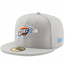 New Era Oklahoma City Thunder Gray State Stare 59FIFTY Fitted Hat