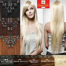Grade AAAA+ 8PCS Clip in Remy Human Hair Extension Full Head Cheapest Price U657