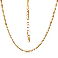 Gold Plated Necklace Thin Link Chain Platinum Plated Jewelry Match All Pendant