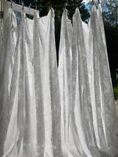 Huge pair antique French chateau woven muslin lace MADRAS 1890s curtains