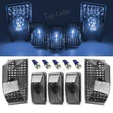Smoke Cab Roof Clearance Light+T10 ICE BLUE 5050-SMD LED for 03-09 Hummer 5pcs