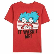 "NWT Dr. Seuss Thing 1 & Thing 2 - ""It Wasn't Me!"" Tee: Little Boys 4 - 7"