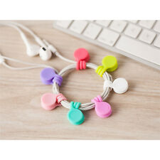 Multifunction Magnet Earphone Cord Winder Cable Holder Organizer Clips 3pcs