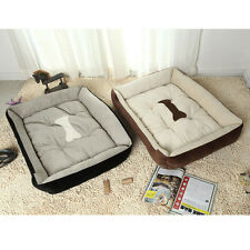 Pet Beds Dog Cat Warm Cozy Sofa Bed with Bone Pattern for Dogs Cats Pets House