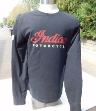 Indian Motorcycle Men's Black Long Sleeve Logo Tee