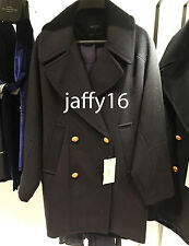 ZARA WOMAN DOUBLE BREASTED WOOL COAT NAVY BLUE XS-XL REF. 3046/235