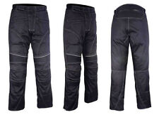 New Men Textile Waterproof Motorcycle Thermal Armoured Trouser Pant Black CE100%