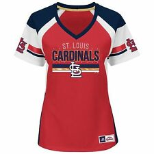 "NWT MLB Majestic Womens St. Louis Cardinals ""Draft Me"" Sparkly Team Jersey: S-M"