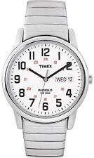 Timex Men's Easy Reader Watch, Extra-Long Silver-Tone Stainless Steel Expansion