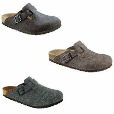 Birkenstock Boston Felt Mule Slip On Slippers Sandal Clogs Suede unisex Wool