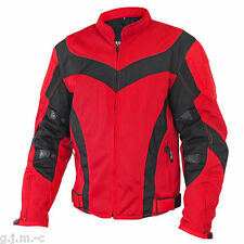 Xelement Men's 6019 Tri-Tex Mesh Red Level-3 Armored Motorcycle Jacket