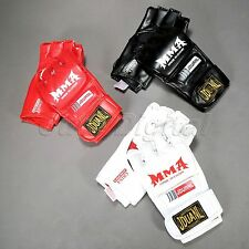 Pair Half Finger MMA Muay Thai Gym Training Gloves Sparring Kick Boxing Gloves