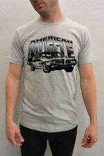 Muscle Car T-shirt-1970 GTO Tshirt-Classic Muscle Car- Pontiac GTO shirt-grey