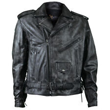 Xelement Urban Armor BXU6900 Mens Distressed Grey Leather Motorcycle Jacket