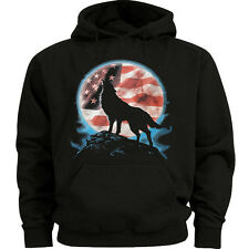 Big and tall sweatshirt for men lone wolf howling at the moon sweatshirt hoodie