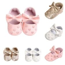 Toddler Girl Crib Shoes Newborn Baby Bowknot Soft Sole Sneakers 0-18 Months